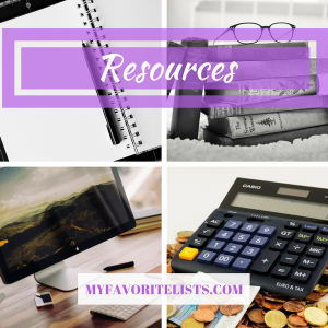 resources notebook books laptop calculator courses